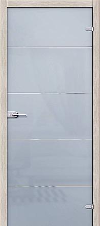"""Дверь межкомнатная стеклянная """"Диана"""" Сатинато белое"""